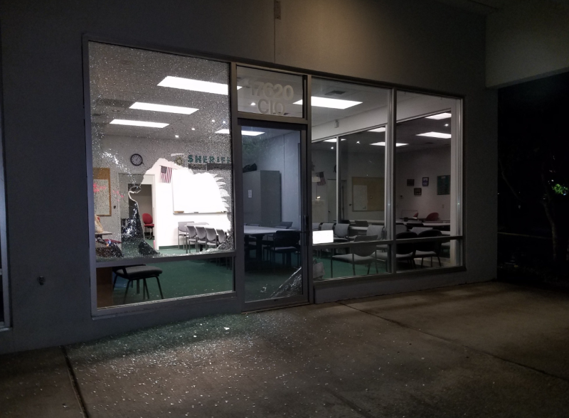 """According to King County Sheriff's Office, the suspect who broke into their office brought donuts with him as a """"peace offering."""" (Photo: Facebook)"""