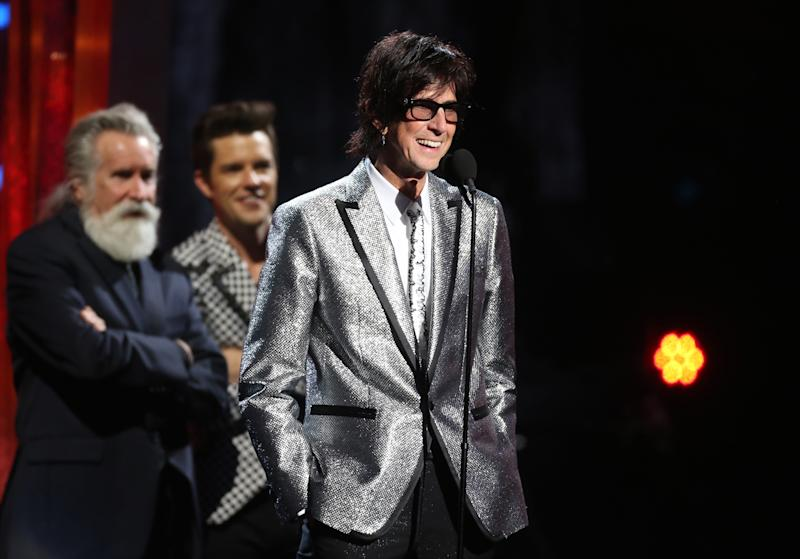 Rock & Roll Hall of Fame Induction – Show - Cleveland, Ohio, U.S., 14/04/2018 – Ric Ocasek of The Cars speaks on stage.