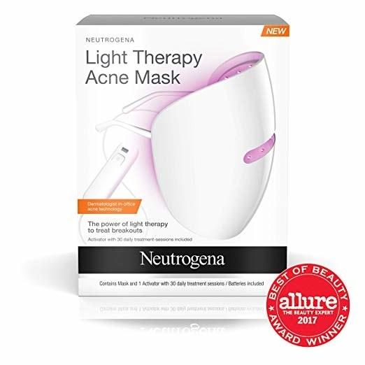 """Clear breakouts by targeting acne-causing bacteria and redness with light therapy. This device is clinically proven to not irritate sensitive skin. After cleansing your skin, give it some light therapy for ten minutes. $28, Amazon. <a rel=""""nofollow"""" href=""""https://www.amazon.com/Neutrogena-Treatment-Clinically-Technology-Sensitive/dp/B01HOHBW6M/ref=as_li_ss_tl"""">Get it now!</a>"""