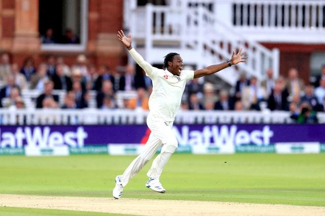 Jofra Archer took his first Test wicket (Mike Egerton/PA)