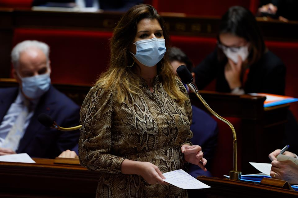 Marlène Schiappa lors des questions au gouvernement à l'Assemblée nationale le 2 février (illustration).  (Photo: THOMAS SAMSON via Getty Images)