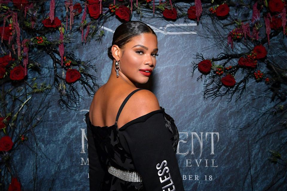 HOLLYWOOD, CALIFORNIA - SEPTEMBER 29: Kamie Crawford attends Disney's Maleficent by MAC Cosmetics at Petit Ermitage on September 29, 2019 in Hollywood, California. (Photo by Emma McIntyre/Getty Images for MAC Cosmetics)
