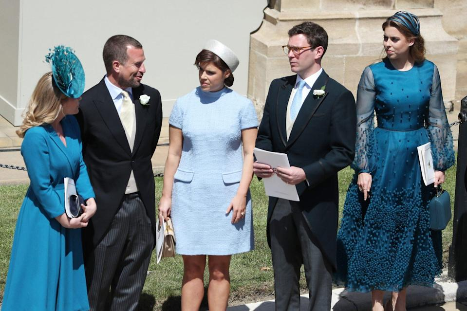 <p>Eugenie and Jack attended her cousin Prince Harry's wedding to Meghan Markle in May 2018 — just months before their own nuptials at the same church, St. George's Chapel in Windsor Castle.</p>