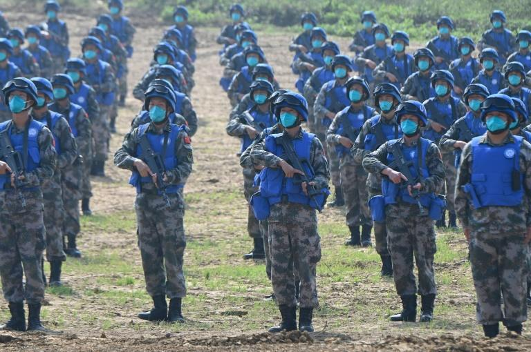 China's defence spending is the second largest in the world after the US (AFP/Jade Gao)