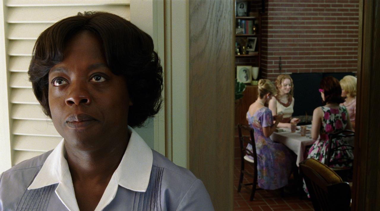 "In this film publicity image released by Disney, Viola Davis is shown in a scene from ""The Help."" The film was nominated Tuesday, Jan. 24, 2012 for an Oscar for best film. The Oscars will be presented Feb. 26 at the Kodak Theatre in Los Angeles, hosted by Billy Crystal and broadcast live on ABC. (AP Photo/Disney, Dale Robinette)"