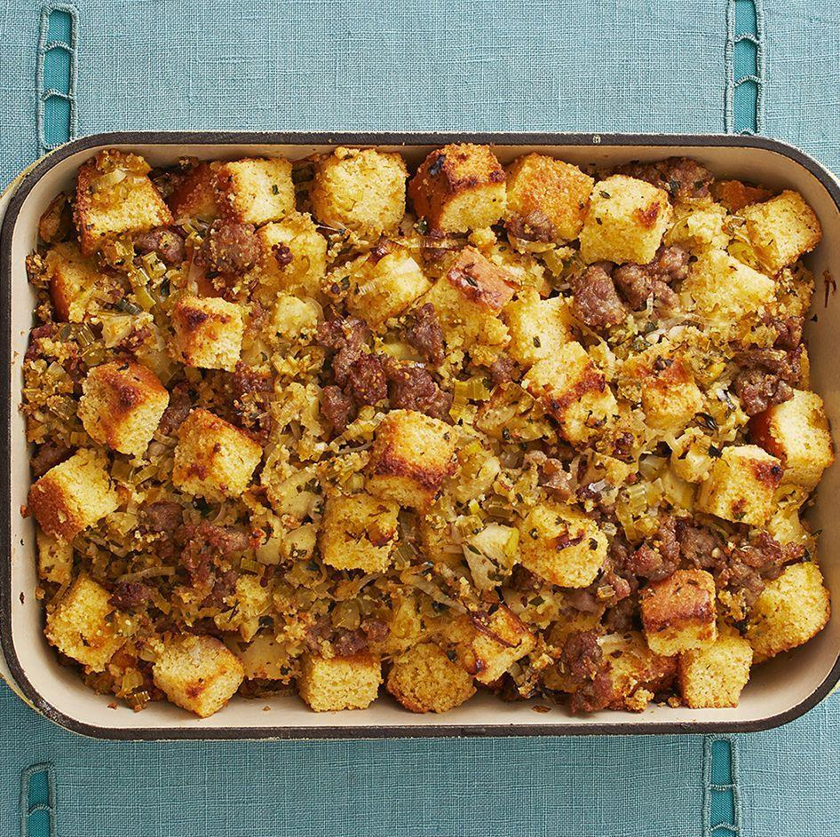 """<p>Whether you call it dressing or stuffing, this Thanksgiving dish is unlike anything you've had before. It's packed with sweet Italian sausage, apples, and leeks for a savory-sweet side you'll love. </p><p><a href=""""https://www.thepioneerwoman.com/food-cooking/recipes/a33314892/best-cornbread-dressing-recipe/"""" rel=""""nofollow noopener"""" target=""""_blank"""" data-ylk=""""slk:Get Ree's recipe."""" class=""""link rapid-noclick-resp""""><strong>Get Ree's recipe. </strong></a></p><p><a class=""""link rapid-noclick-resp"""" href=""""https://go.redirectingat.com?id=74968X1596630&url=https%3A%2F%2Fwww.walmart.com%2Fsearch%2F%3Fquery%3Dpioneer%2Bwoman%2Bbaking%2Bdishes&sref=https%3A%2F%2Fwww.thepioneerwoman.com%2Ffood-cooking%2Fmeals-menus%2Fg37078352%2Fitalian-sausage-recipes%2F"""" rel=""""nofollow noopener"""" target=""""_blank"""" data-ylk=""""slk:SHOP BAKING DISHES"""">SHOP BAKING DISHES</a></p>"""