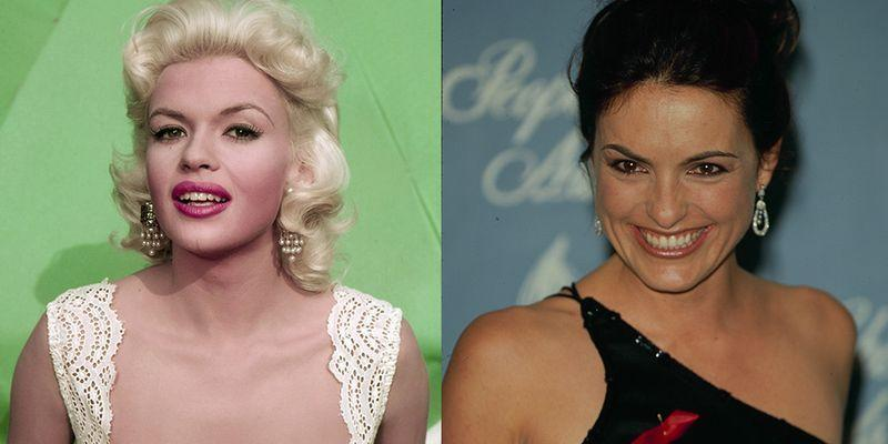<p>At 27, '50s bombshell Jayne Mansfield was under contract with 20th Century Fox and had appeared in films like <em>The Wayward Bus </em>and <em>Too Hot to Handle</em>. Her daughter, Mariska, was only 3 years old when her mother passed away in a car accident, but followed in her Hollywood footsteps. At 27, Mariska began starring in the hit TV show <em>Law and Order: Special Victims Unit</em>, which is going into its record-breaking 22nd season this year.<br></p>