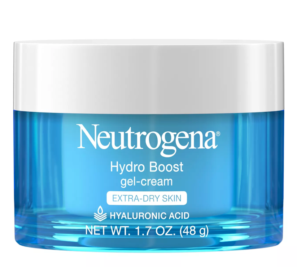 """<h2>Neutrogena Hydro Boost Gel-Cream Moisturizer</h2><br>This fragrance-free moisturizer with hyaluronic acid is a $20-and-under-buy that we can't get enough of! Its elastic gel-cream consistency makes a little go a long way and hydrates without a greasy feeling. One Neutrogena fan uses it to prep her skin for flawless foundation application: """"The Hydro Boost Is an excellent yet affordable skincare product. The gel-like cream hydrates your skin without leaving any residuals. You can use it as your daily moisturizer alone or under your everyday foundation. It is hypoallergic and perfect for sensitive, dry, and dehydrated skin."""" <br><br><em>Shop<strong> <a href=""""https://goto.target.com/6rv7b"""" rel=""""nofollow noopener"""" target=""""_blank"""" data-ylk=""""slk:Neutrogena"""" class=""""link rapid-noclick-resp"""">Neutrogena</a></strong></em><br><br><strong>Neutrogena</strong> Hydro Boost Moisturizer, $, available at <a href=""""https://go.skimresources.com/?id=30283X879131&url=https%3A%2F%2Fgoto.target.com%2FM643N"""" rel=""""nofollow noopener"""" target=""""_blank"""" data-ylk=""""slk:Target"""" class=""""link rapid-noclick-resp"""">Target</a>"""