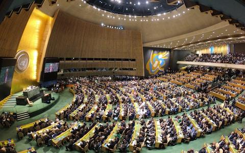 <span>The UN General Assembly was only made possible because of budget cuts</span> <span>Credit: Ercin Top/Anadolu Agency via Getty Images </span>