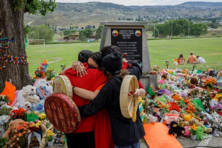 A new discovery of hundreds of unmarked graves near a former school for indigenous children in western Canada follows an earlier finding of children's remains at another school in Kamloops, British Columbia