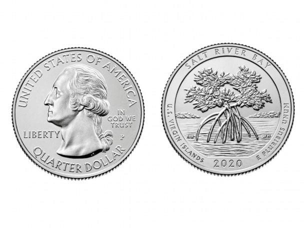 PHOTO: One of the new America the Beautiful Quarters for 2020 showcases Salt River Bay National Historical Park and Ecological Preserve. (United States Mint )