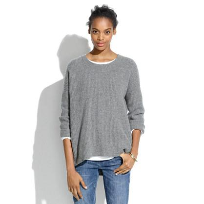 "<div class=""caption-credit""> Photo by: Madewell</div><div class=""caption-title""></div><b>Wool Sweater</b> <br> Not only does an oversized gray sweater go with anything, but it can also keep you comfy during those awful 8am classes. Cozy AND chic? Yes, please! <br> <i>Buy it here at <a rel=""nofollow"" href=""https://www.madewell.com/madewell_category/SWEATERS/pullovers/PRDOVR~03578/03578.jsp"" target=""_blank"">Madewell</a></i>"