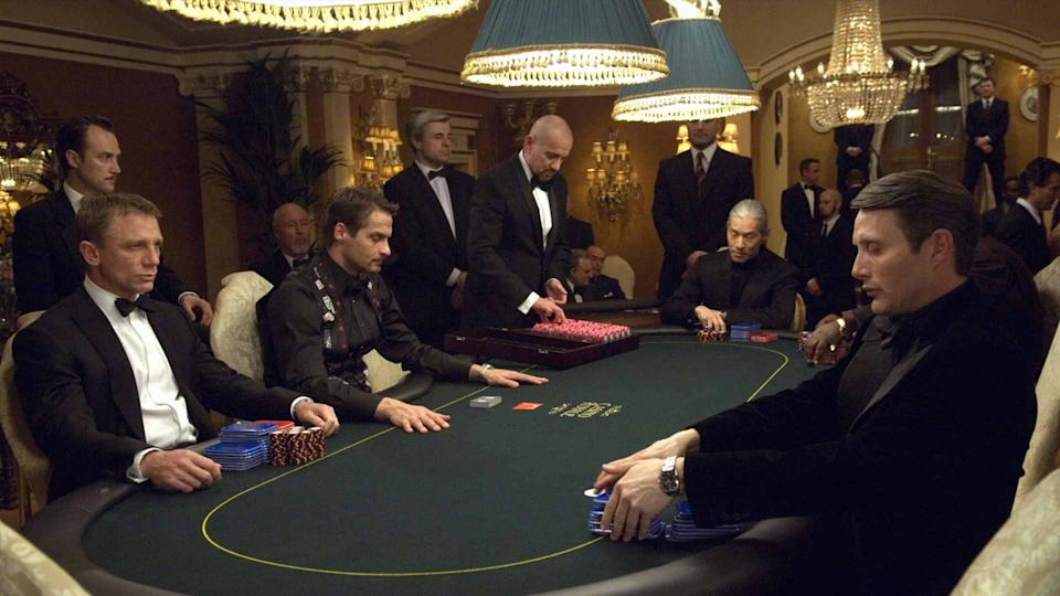 Daniel Craig and Mads Mikkelsen in Casino Royale (Sony)
