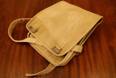 A bag for Vietnamese military officer which was produced during Vietnam War by X40 garment company is seen exhibited at Maxport garment company in Hanoi