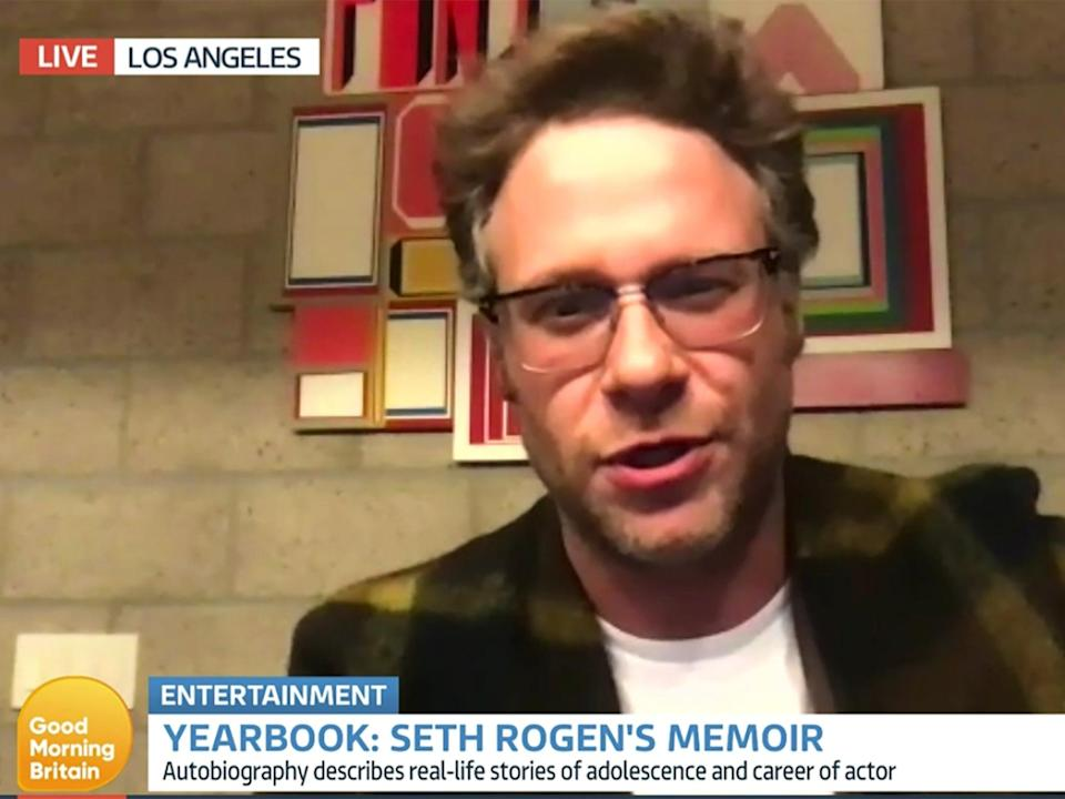Seth Rogen on Good Morning Britain on Tuesday (25 May) (ITV)