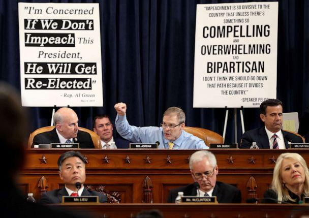 PHOTO: Rep. Jim Jordan speaks during a House Judiciary Committee meeting on Capitol Hill, Dec. 4, 2019, in Washington. (Chip Somodevilla/Getty Images)