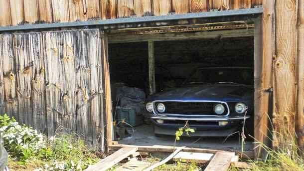 Rare Mustang Boss 302 emerges from barn after 40-year slumber