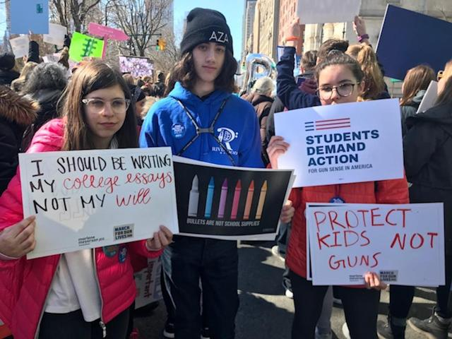 <p>Young people are leading the march. (Photo: Laura Kenney for Yahoo Lifestyle) </p>