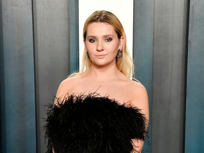 Abigail Breslin at the 2020 Vanity Fair Oscar party on 9 February 2020 in Beverly Hills, California (Frazer Harrison/Getty Images)