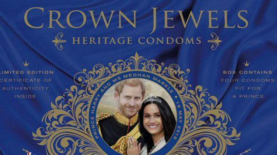 "<p>""Artisan"" condom manufacturer ""Crown Jewels"" has launched a ""sumptuous new"" product to celebrate the occasion, ""tailored to a regal fit"" and promising ""discerning love-makers a royal union of pleasure and style."" The product comes in ""a handsome souvenir case"", which plays a ""musical arrangement of God Save the Queen and The Star Spangled Banner"" upon opening, and is decorated with a pop-up picture of the happy couple and the inscription ""your prince will come"". </p>"