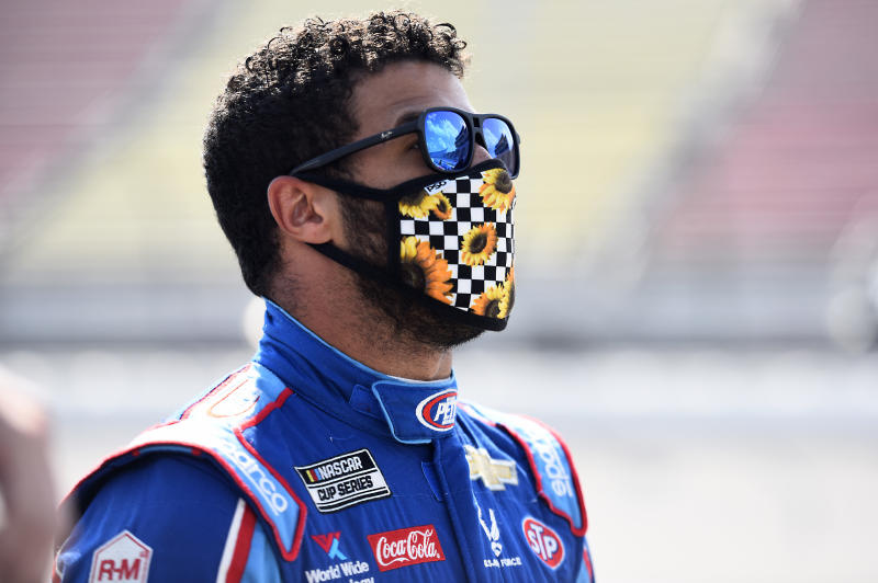 NASAR driver Bubba Wallace, driver of the #43 Victory Junction Chevrolet.
