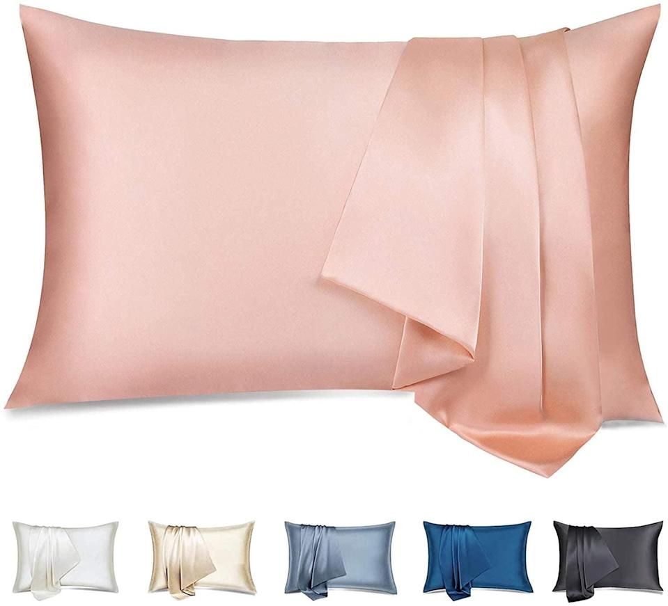 <p>Protect your hair and skin while sleeping with this chic <span>silkcase Silk Pillowcase for Hair and Skin,</span> ($25). Made with 100% Pure Mulberry silk, it is soft, breathable and has a hidden zipper.</p>