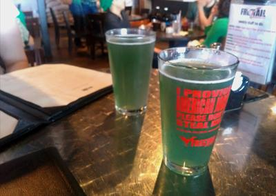 """<div class=""""caption-credit""""> Photo by: Courtesy of Big Orca Brewing</div><div class=""""caption-title""""></div><b>Freetail Brewing Company: Spirulina Wit <br></b> Come St. Patrick's Day, drinkers across the country toast with green beer. They do the same down in San Antonio, but instead of dyeing beer, this experimental brewery incorporates the vitamin-rich, blue-green algae into its Rye Wit, an aromatic Belgian-style witbier. The algae add notes of tropical fruit, meaning drinking to your health is equally delicious and nutritious."""