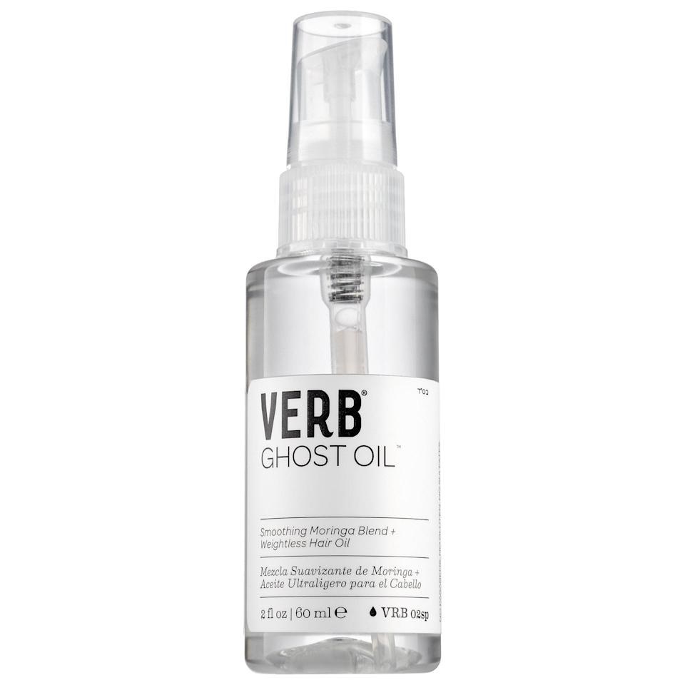 <p>Frizz doesn't stand a chance with this <span>Verb Ghost Weightless Hair Oil</span> ($18) with argan and moringa seed oils packed inside. This product also offers weightless shine to handle flyaways while locking in moisture that humidity may take out.</p>