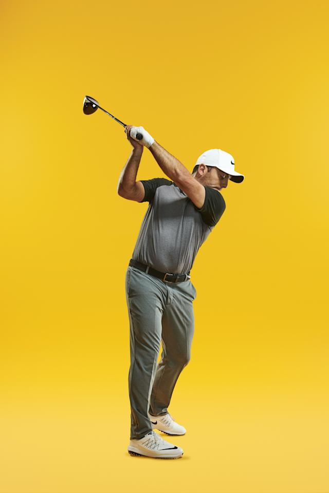 """<div class=""""caption""""> 'My right leg straightens much more in the backswing now—it's not restricted.' </div> <cite class=""""credit"""">Levon Biss</cite>"""
