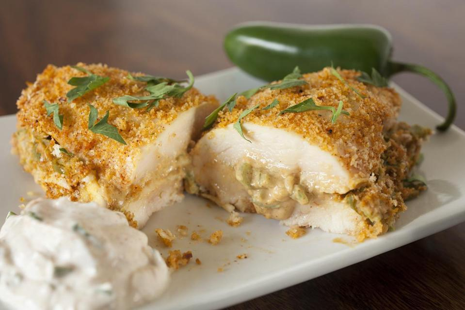 <p>Cooking whole, stuffed poultry in the microwave isn't recommended. This is because food cooks rapidly in the microwave, and the stuffing might not have enough time to reach the temperature needed to destroy harmful bacteria.</p>