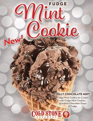 The Chilly Chocolate Mint™ Creation is made with Fudge Mint Cookie Ice Cream, Fudge Mint Cookies, Sprinkled Chocolate Drops and Fudge