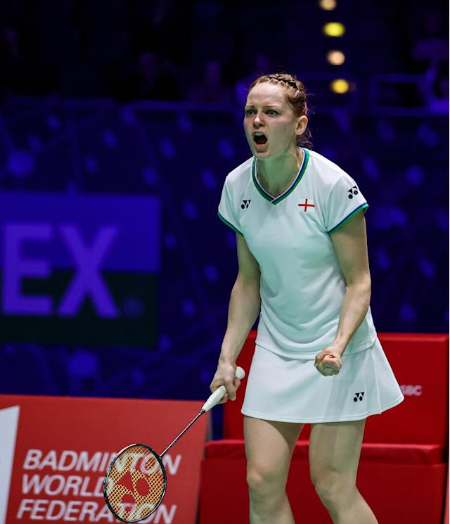 Lauren Smith and Marcus Ellis powered into the Yonex All England semi-finals as they bid to become the first home winners of the competition for 15 years