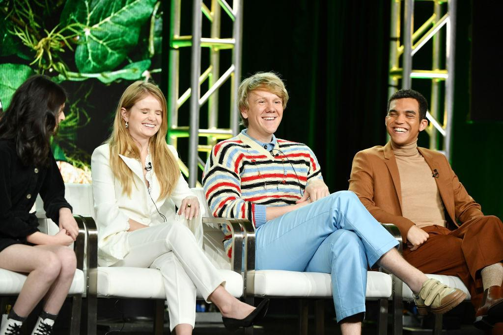 The cast of Everything's Gonna Be Okay — from left, Maeve Press, Kayla Cromer, Josh Thomas and Adam Faison. (Photo: Amy Sussman/Getty Images)