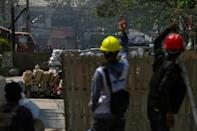 The barricades have been partially successful in slowing down the movement of the security forces