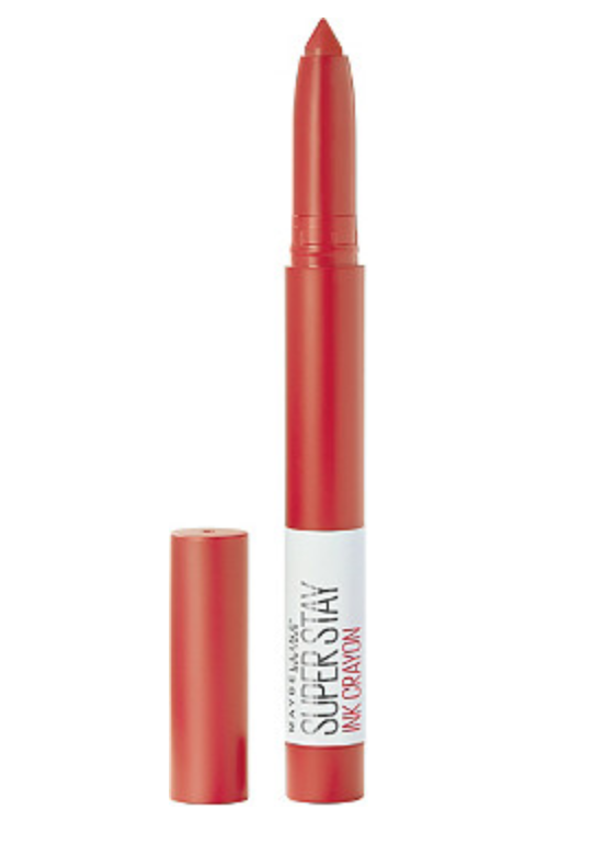 """As kids we played with crayons, and now we play with crayons to glam ourselves up. At least with Maybelline's Crayon Lipstick we do! Commerce editor Bianca Nieves is obsessed with this """"long-lasting and affordable"""" shade. It's even more affordable today because of the extra 50% off at Ulta in honor of our favorite holiday. The orange-red shade is the perfect hue for summer and glides on in a rich pigmented fashion. It gets no better than that. $9, Ulta. <a href=""""https://www.ulta.com/superstay-ink-crayon-lipstick?productId=pimprod2006734&sku=2545891&_requestid=1069719"""">Get it now!</a>"""