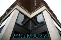 FILE PHOTO: Signage is displayed outside a Primark store at the Oxford Street, in London
