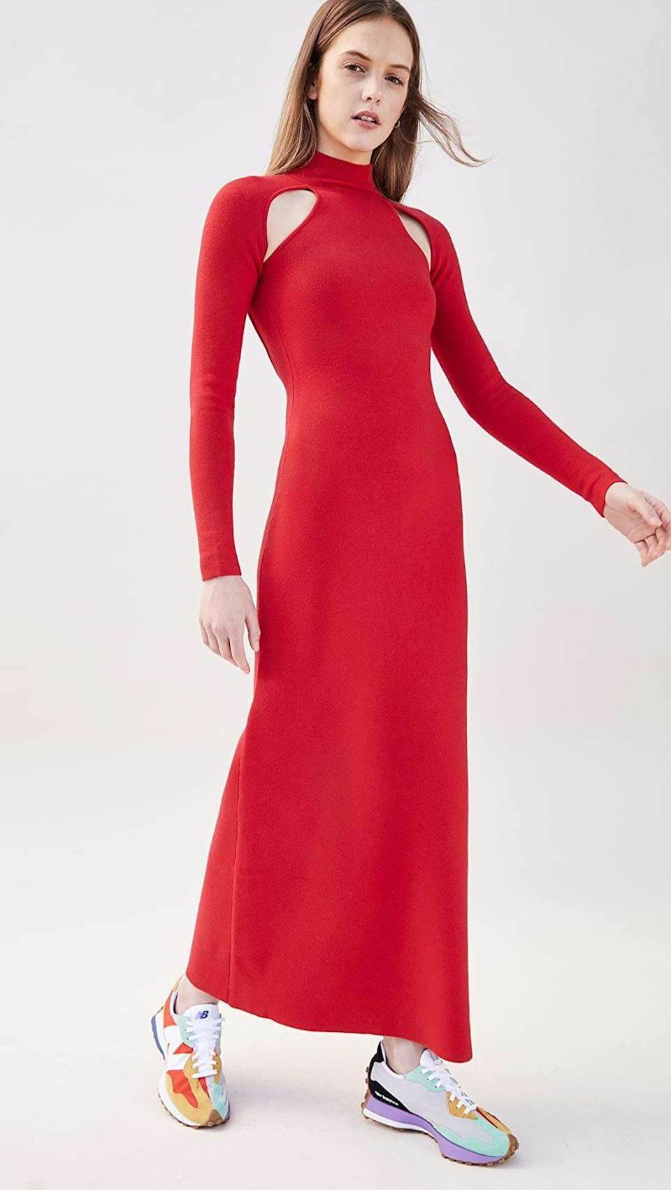 <p>This <span>Victor Glemaud T Neck Dress</span> ($595) is sophisticated and vibrant.</p>