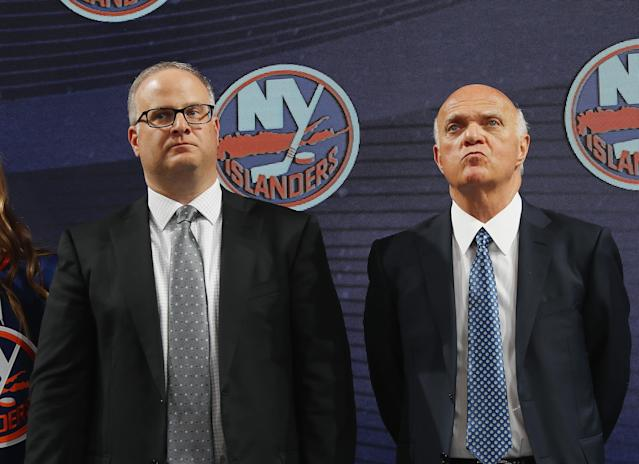 Lamoriello has had a strange start to his tenure with the Islanders. (Getty)
