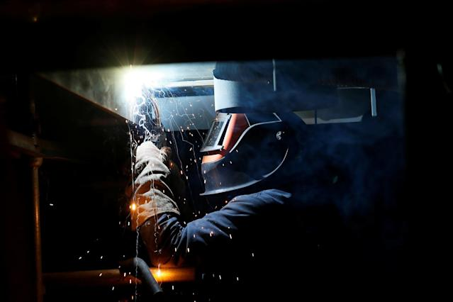 <p>No. 109: Welder I<br> Total Score: 26.31<br> Immediate Opportunity Rank: 72<br> Growth Potential Rank: 100<br> Job Hazards Rank: 103<br> (Reuters) </p>