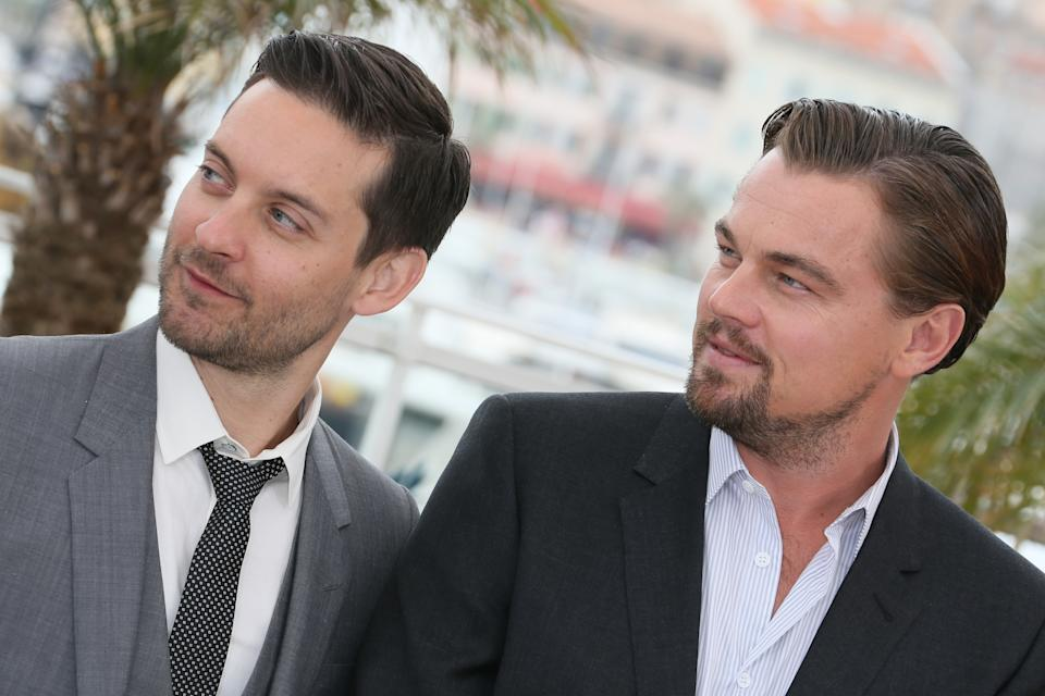 CANNES, FRANCE - MAY 15:  Actors Leonardo DiCaprio and Tobey Maguire attend the photocall for 'The Great Gatsby' at The 66th Annual Cannes Film Festival at Palais des Festivals on May 15, 2013 in Cannes, France.   (Photo by Toni Anne Barson/FilmMagic)