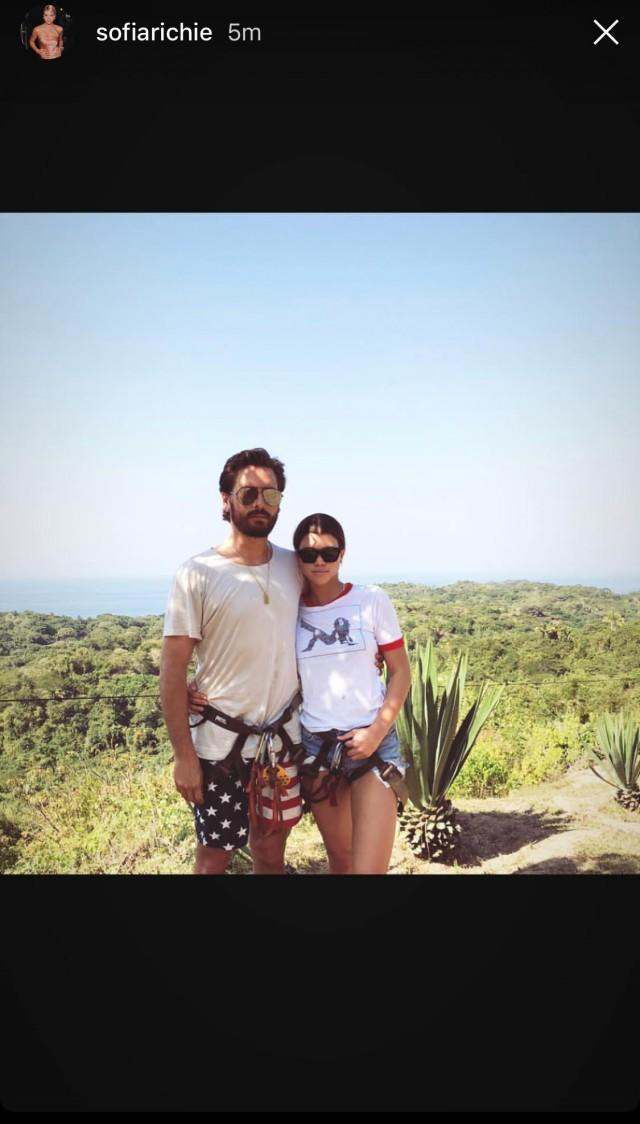 Scott Disick and Sofia Richie Vacation Photo 011418