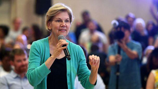 PHOTO: Democratic presidential candidate Sen. Elizabeth Warren speaks during a community conversation at the East Las Vegas Community Center on July 2, 2019 in Las Vegas, Nevada. (Ethan Miller/Getty Images)