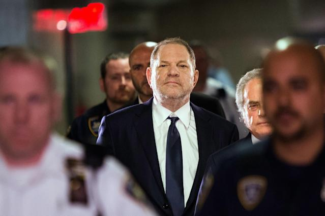 Harvey Weinstein enters Manhattan criminal court on June 5, 2018, in New York. (Photo: Eduardo Munoz Alvarez/AFP/Getty Images)