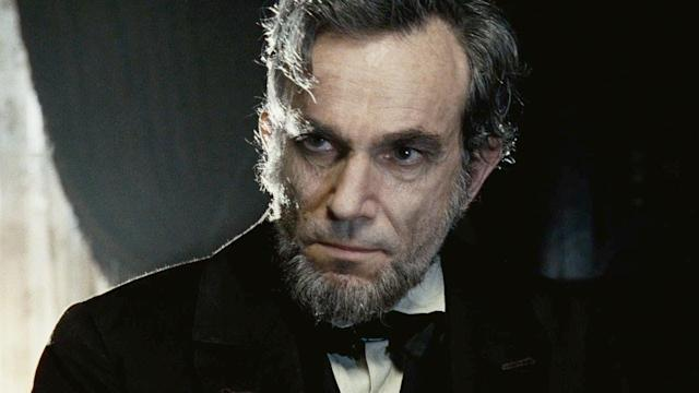 Daniel Day-Lewis as Abraham Lincoln in Steven Spielberg's <em>Lincoln</em>.