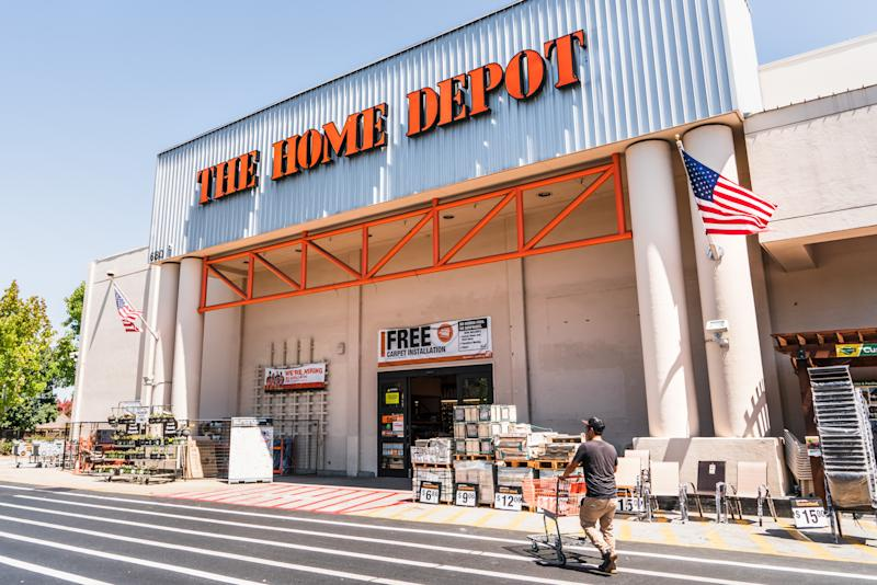 August 12, 2019 Sunnyvale / CA / USA - People shopping at The Home Depot in South San Francisco bay area