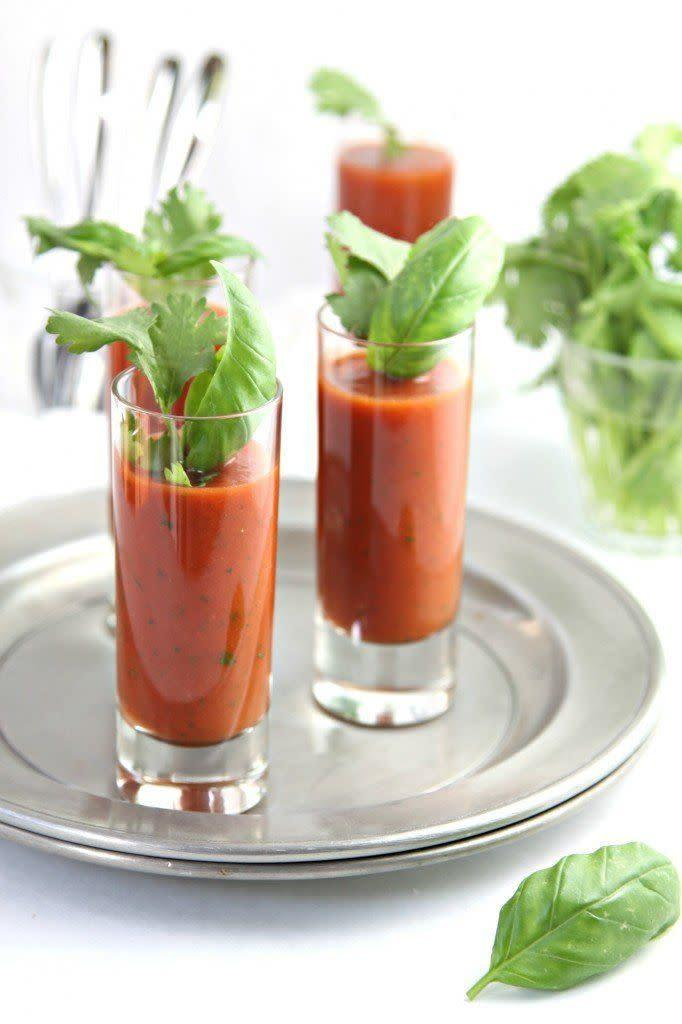 """<strong>Get the <a href=""""http://www.bellalimento.com/2014/06/24/chilled-spicy-tomato-soup-shots/"""" rel=""""nofollow noopener"""" target=""""_blank"""" data-ylk=""""slk:Chilled Spicy Tomato Soup Shots recipe"""" class=""""link rapid-noclick-resp"""">Chilled Spicy Tomato Soup Shots recipe</a> from Bell'alimento</strong>"""