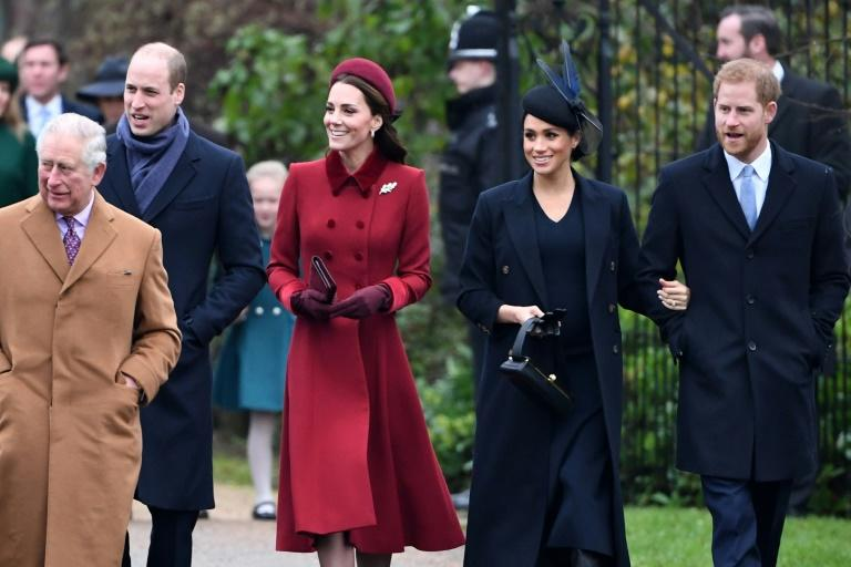 """Rumours that all was not well with the Sussexes surfaced in October when Harry, sixth in line to the throne, admitted that he and William were """"on different paths"""" and had good and bad days in their relationship (AFP Photo/Paul ELLIS)"""