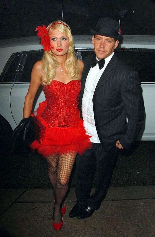 """Although her actual 30th birthday was on February 17, Paris Hilton and her boyfriend Cy Waits kicked off her birthday festivities a few days early with a """"Moulin Rouge""""-themed bash at a private house in the Hollywood Hills Tuesday night. Unfortunately, the heiress' $3,200 birthday cake was stolen from the soiree by a party crasher named Paz, who bragged about his conquest on Facebook. """"I woke up this morning with a birthday cake in my living room,"""" wrote Paz. """"It's big. It's red. It says 'Paris'. And its delicious."""" <a href=""""http://www.infdaily.com"""" target=""""new"""">INFDaily.com</a> - February 15, 2011"""