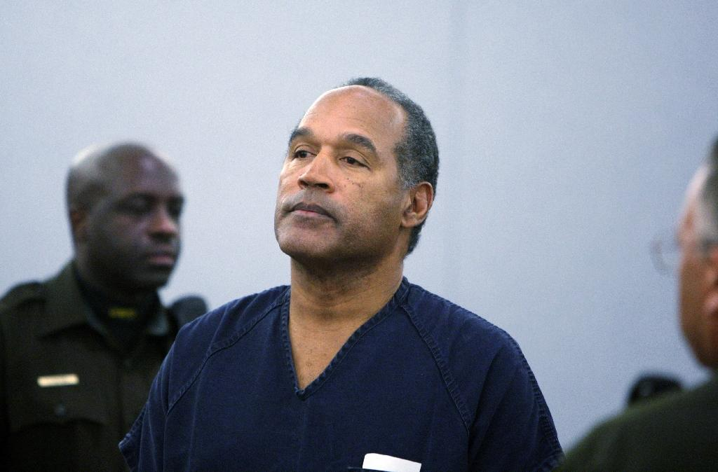 O.J. Simpson, shown here at his 2008 sentencing hearing, could soon go free if a Nevada parole board rules in his favor on Thursday (AFP Photo/Isaac Brekken)