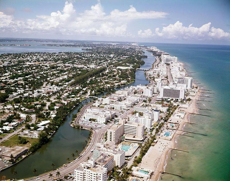 <p>The Sunshine State had a new vacation contender in Miami Beach. The aesthetic of Miami was changing from a primarily Jewish population with the recent arrivals of Cubans either fleeing or exiled from Cuba. This led the city to incorporate dual identities that still charm vacationers today. </p>